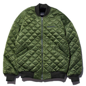Square quilting MA-1 jacket khaki