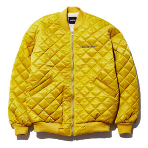 Square quilting MA-1 jacket yellow