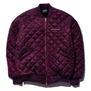 Square quilting MA-1 jacket burgundy