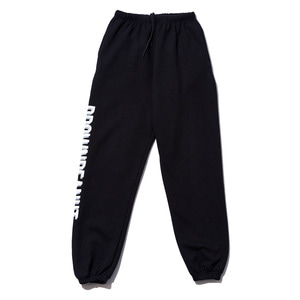 BP logo basic pants black