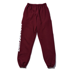 BP logo basic pants burgundy