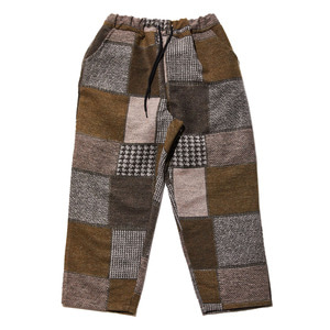 Brushed check pants khaki