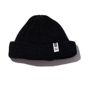 Watchcap short beenie black
