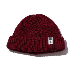 Watchcap short beenie burgundy