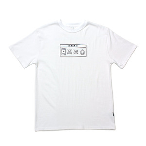 [Brownpeanut x Laundry project]Laundry tee shirt white