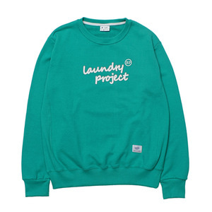 [Brownpeanut x Laundry project]Laundry crewneck shirt mint