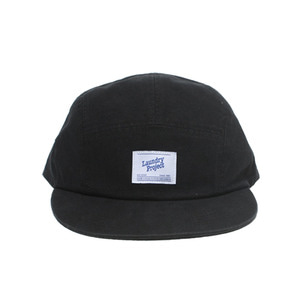 [Brownpeanut x Laundry project]washed 5-panel campcap black